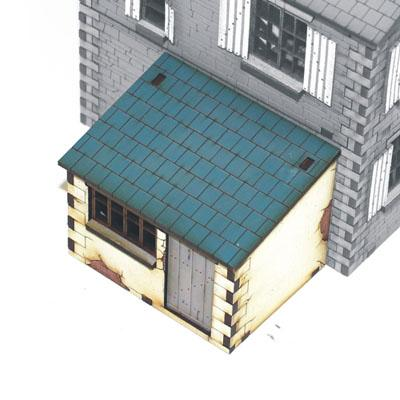 4G20006 - Lean-to Dairy or toolshed 1/72