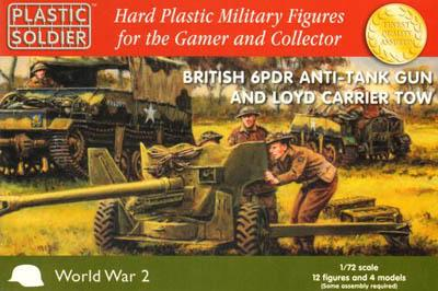 WW2G20004 - British 6 pdr anti tank gun and Lloyd carrier tow 1/72