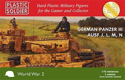 WW2V20018 - Pz.Kpfw.III Ausf.J, Ausf.L Ausf.M and Ausf.N 1/72