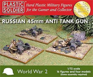 WW2G20001 - Russian 45mm anti tank gun 1/72