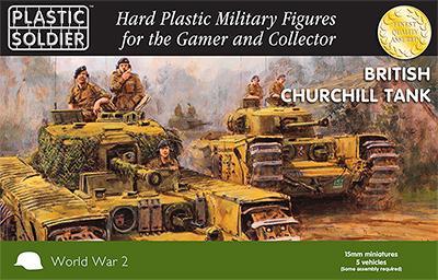 WW2V15023 - British Churchill Tank 15mm