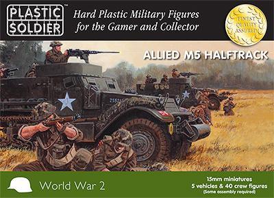 WW2V15020 - Allied M5 Halftracks 15mm