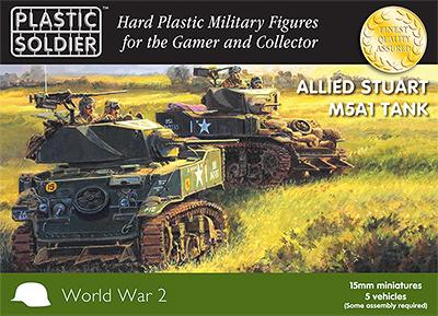 WW2V15021 - Allied M5A1 Stuart Tank 15mm