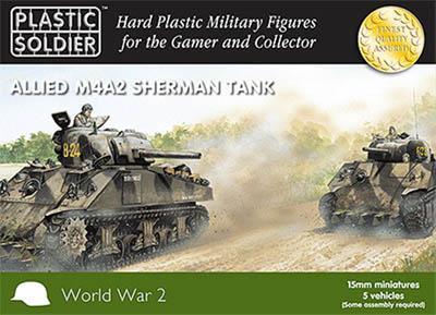 WW2V15006 - M4A2 Sherman Tank 15mm