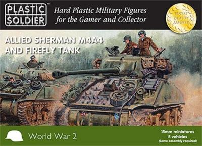 WW2V15011 - Sherman Firefly and M4A4 15mm