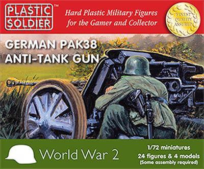 WW2G20003 - German PaK-38 anti tank gun 1/72
