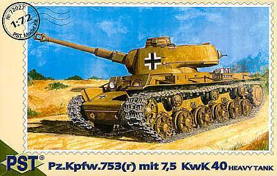 72027 - Pz.Kpfw.753 with 7,5 KwK L/40 1/72