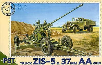 72028 - 37mm AA gun with ZIS-5 truck 1/72