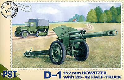 72031 - 152mm Howitzer with Russian ZIS-42 half truck 1/72