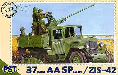 72033 - 61-K 37mm AASP gun on Russian ZIS-42 1/72
