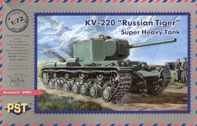 72059 - Russian KV-220 Russian Tiger Heavy Tank 1/72