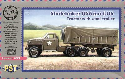 72062 - Studebaker US6 mod Tractor with semi-trailer 1/72