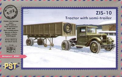 72063 - ZiS-10 Tractor with semi-trailer 1/72