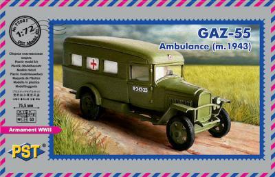 72081 - GAZ-55 Ambulance (m.1943) 1/72