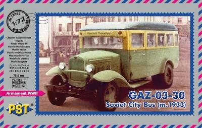 72082 - GAZ-03-30 m.1933 . Soviet city bus 1/72