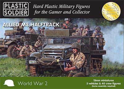 WW2V15016 - Allied M3 Halftrack 15mm