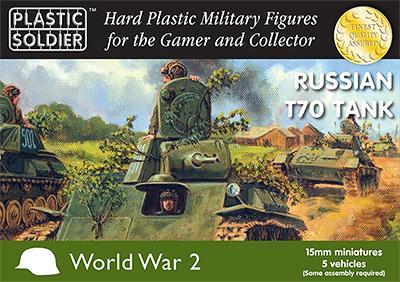 WW2V15019 - Russian T70 tank 15mm