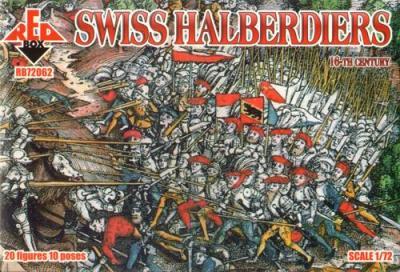 72062 - 16th Century Swiss Halberdiers 1/72