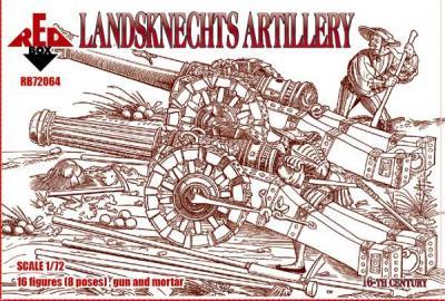 72064 - Landsknechts Artillery 16 c. 1/72