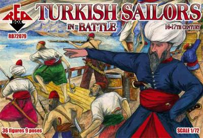 72079 - Turkish sailors in battle, 16-17th century 1/72