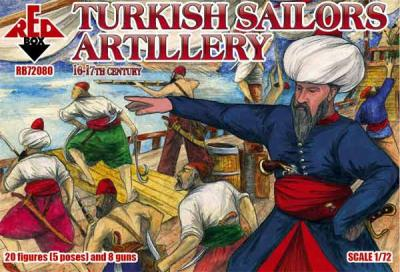 72080 - Turkish sailors artillery, 16-17th century 1/72