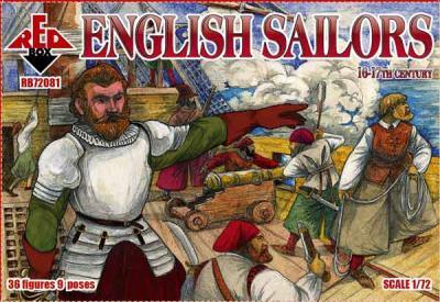 72081 - English Sailors, 16-17th century 1/72