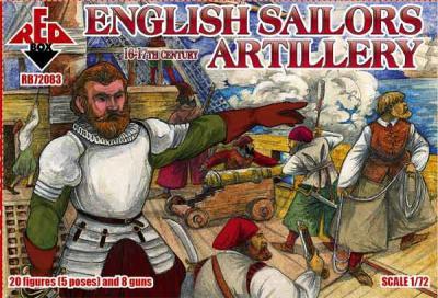 72083 - English sailors artillery, 16-17th century 1/72