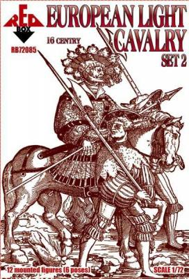 72085 - 	European light cavalry, 16th century, set 2 1/72