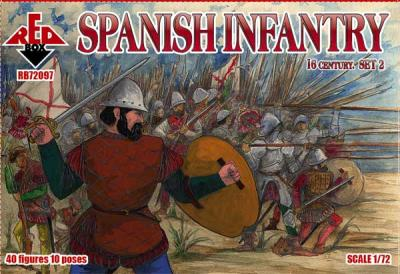 72097 - Spanish Infantry Set 2 16 c. 1/72