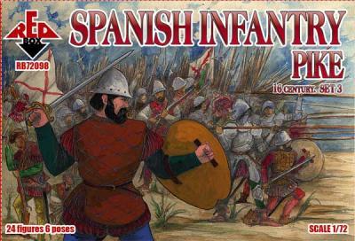 72098 - Spanish Infantry (Pike). Set 3. 16 c. 1/72