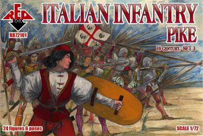 72101 - Italian Infantry (Pike) . Set 3. 16 c. 1/72