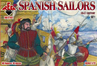 72102 - Spanish Sailors 16-17 century 1/72