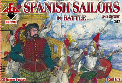 72103 - Spanish Sailors in Battle 16-17 century 1/72