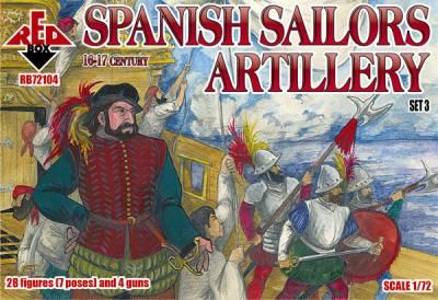 72104 - Spanish Sailors Artillery 16-17 century 1/72