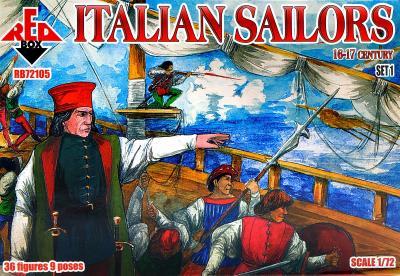 72105 - Italian Sailors, 16-17 century, set 1 1/72