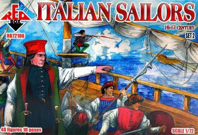 72106 - Italian Sailors, 16-17 century, set 2 1/72