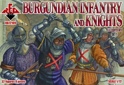 72109 - Burgundian Infantry and Knights Set 1 15 c 1/72