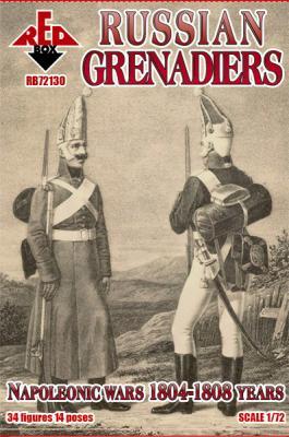 72130 - Napoleonic Russian Grenadiers 1804-1808 1/72