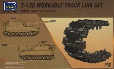 30002 - T136 Workable Track set for M108/SPH M109A1 SPH M109A2 SPH M109A3 SPH M109A4 SPH M109A5 SPH