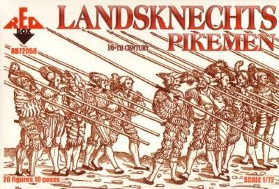 72058 - Landsknechts Pikemen 1/72