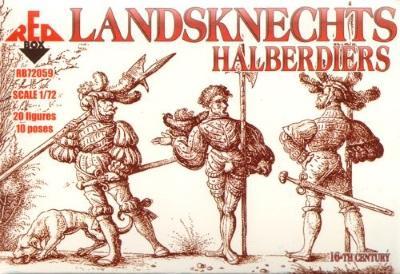 72059 - Landsknechts Halberdiers 1/72