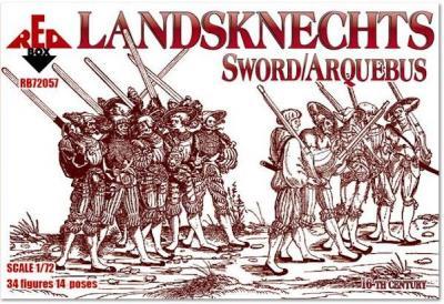 72057 - Landsknechts (Sword/Arquebus) 1/72