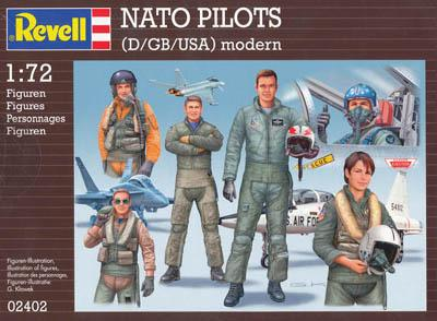 2402 - NATO Pilots (D/GB/USA) 1/72