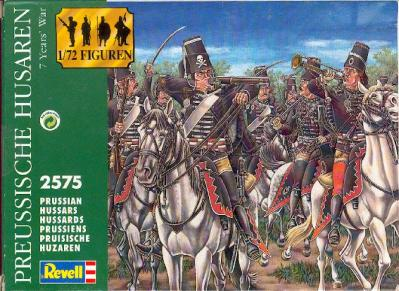 2575. PRUSSIAN HUSSARS. REVELL 1/72