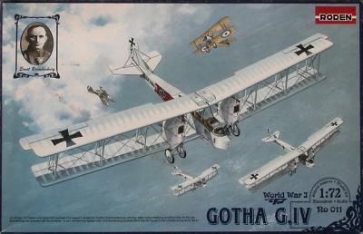 011 - Gotha G.IV German WWI bomber 1/72