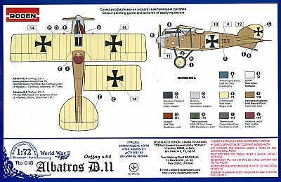 018 - Albatros D.II 1/72