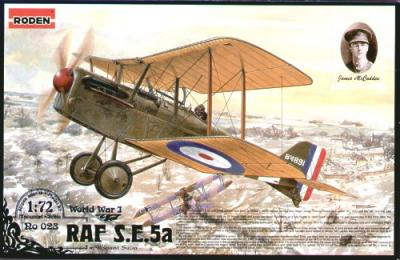 023 - Royal-Aircraft-Factory SE.5a with Hispano Suiza engine 1/72