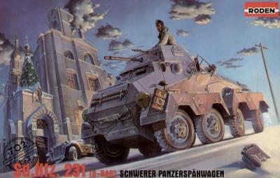 702 - German Sd.Kfz.231 (8-Rad) Schwerer Panzerspahwagen 1/72