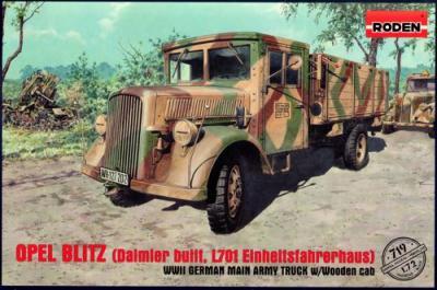 719 - Opel Blitz (Daimler-Benz L701) with Wooden Cab 1/72