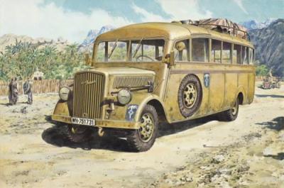 721 - Opel Blitz 3.6-47 Late Type Omnibus W39 Afrika Korps 1/72
